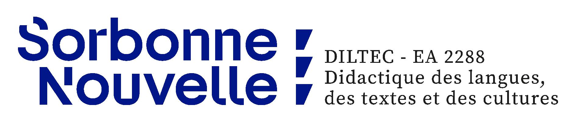 Logo. Sorbonne Nouvelle. Diltec EA 2288. Didactique des langues, des textes et des cultures.